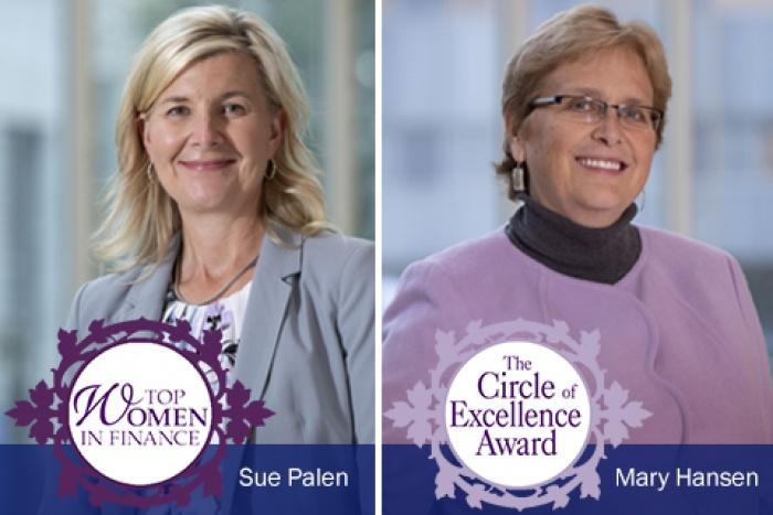 Awards for Sue Palen and Mary Hansen